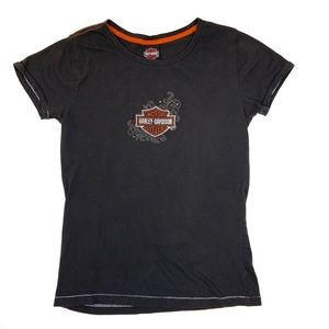 Harley-Davidson Embroidered Graphic T-Shirt M